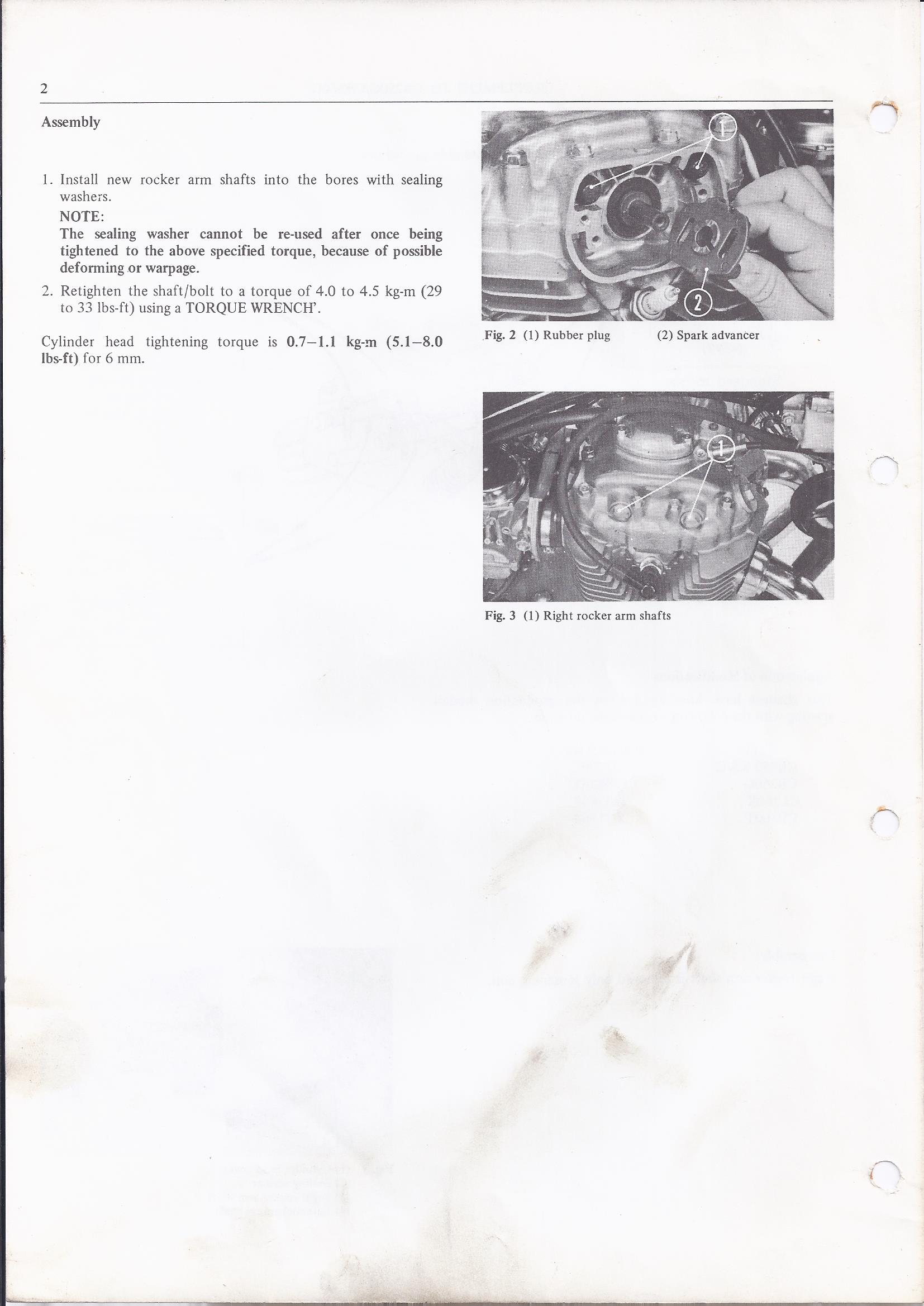 Honda Documents for CB250 and CB360 G5 UK Model known as