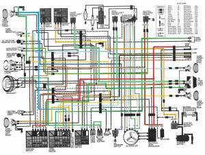 1982 CM450E color wiring diagram