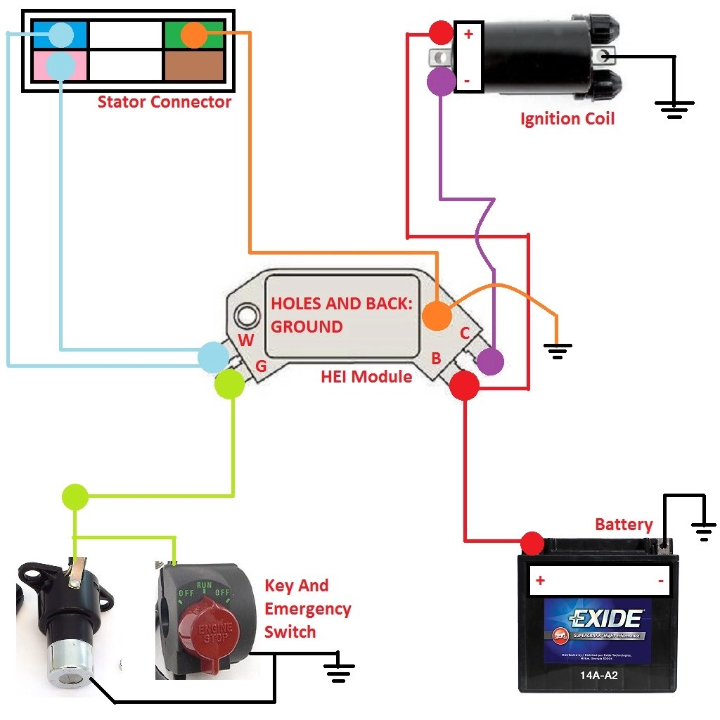 hight resolution of how to gm hei module ignition schematic jpg
