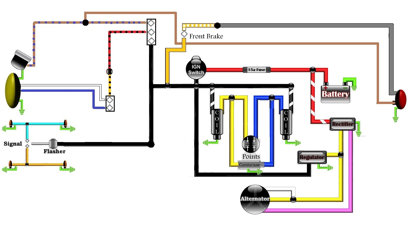 hight resolution of revised wiring diagram honda twin rewire rne jpg