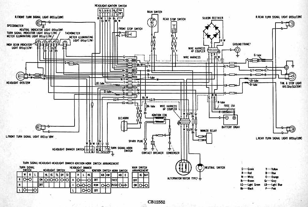 1974 honda cb125 wiring diagram