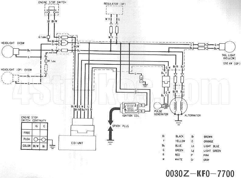 Honda Mt125 Wiring Diagram