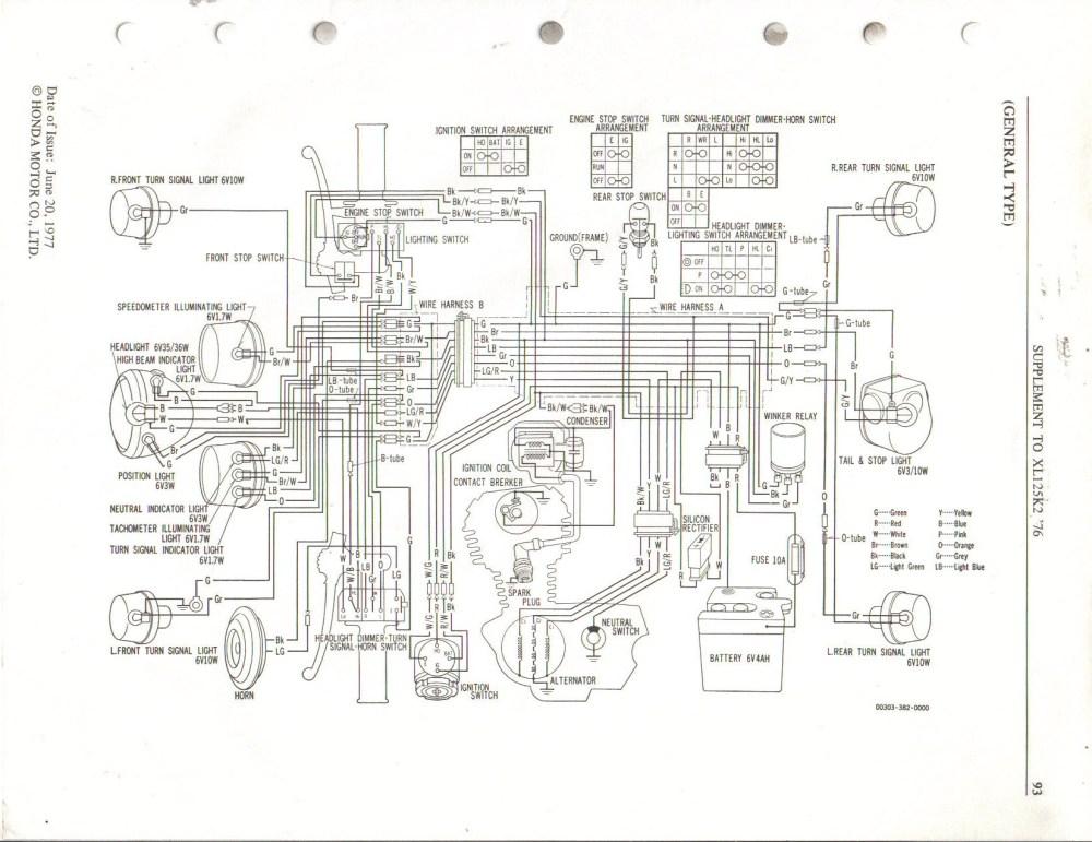 medium resolution of honda xlr 125 r wiring diagram