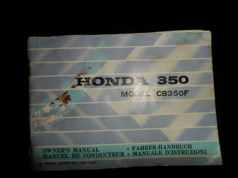 medium resolution of 1973 honda cb350 four owner s manual in english french german and italian sam 1721