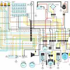 1978 Kz1000 Wiring Diagram Basic Auto Electrical Wire Harness Honda Cb550 Diagrams Schematic Black