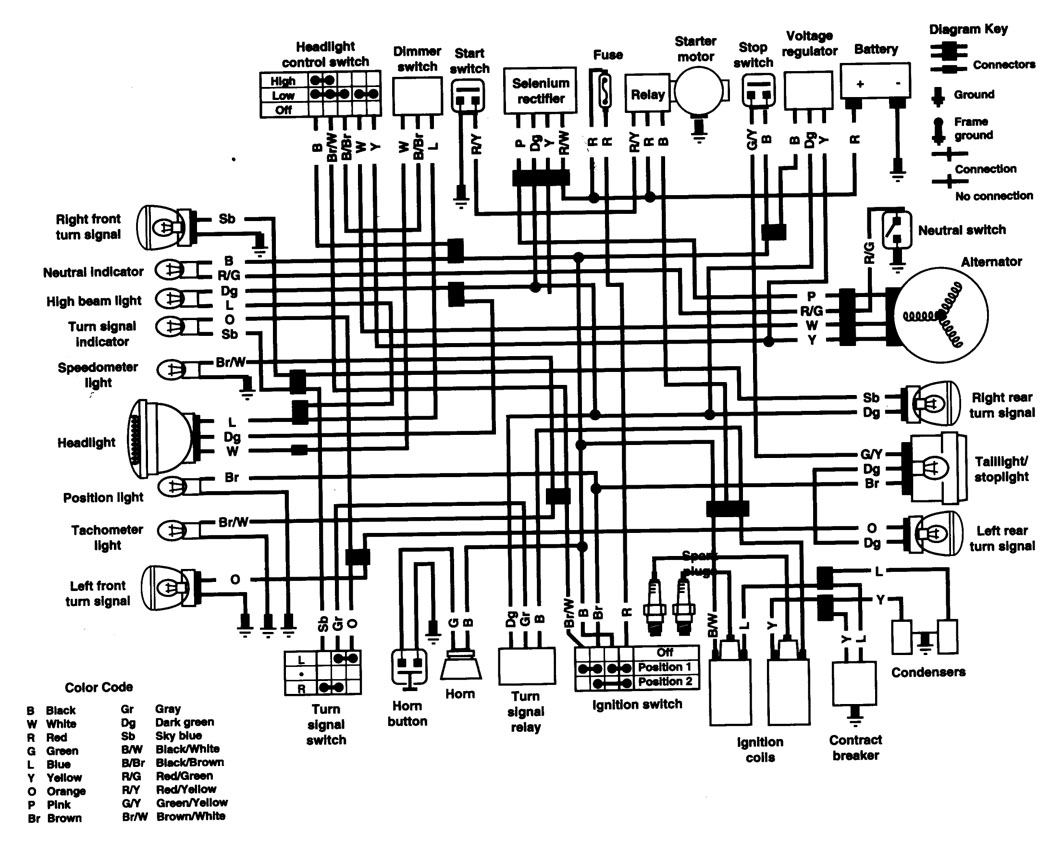 honda cb500t electrical wiring diagram