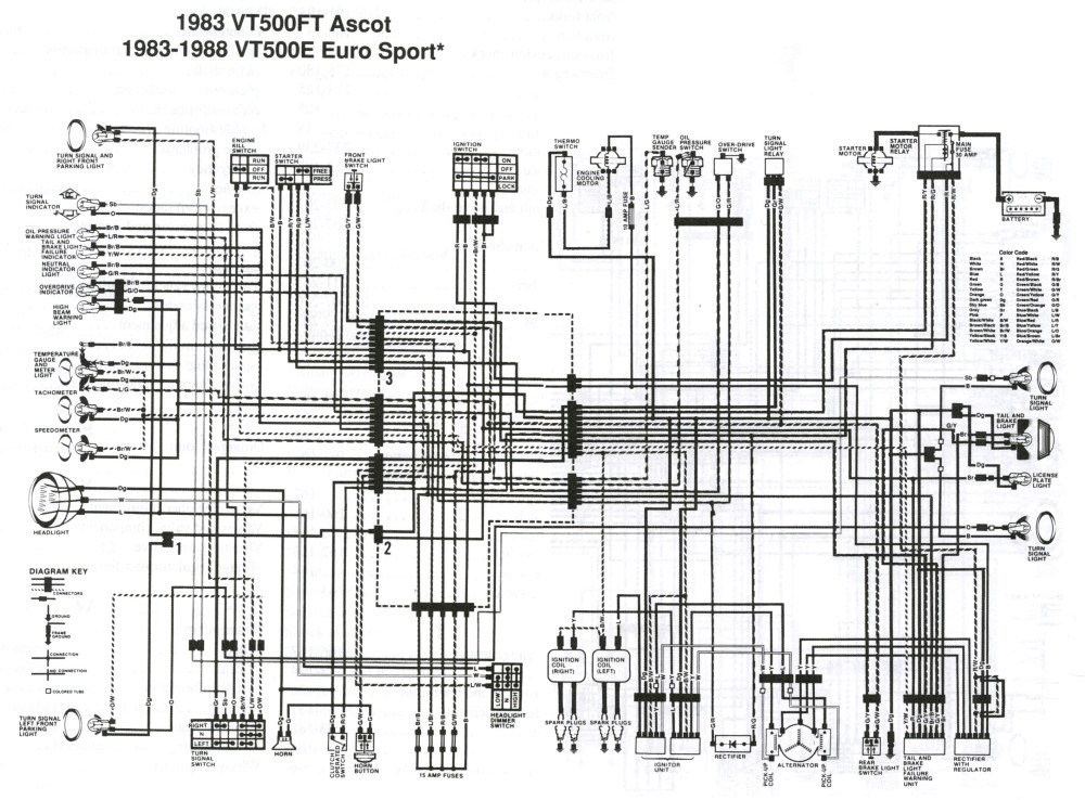 medium resolution of honda vt500 wiring diagram