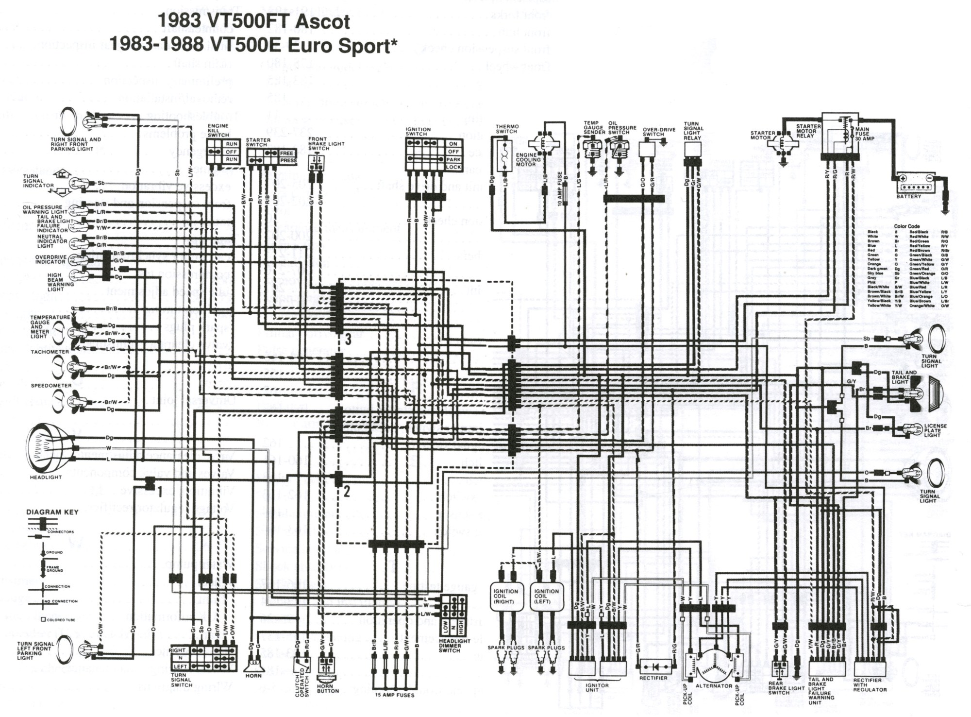 hight resolution of honda vt500 wiring diagram