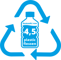 4,5 pet flessen gerecycled