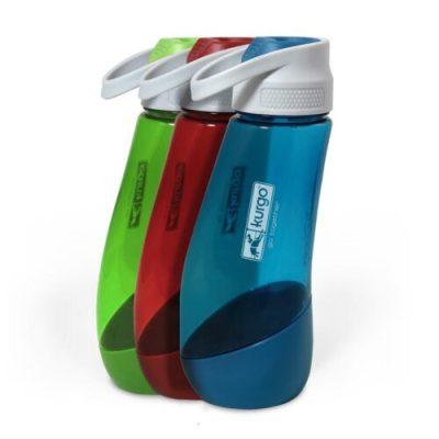 Kurgo waterfles groen, rood en blauw