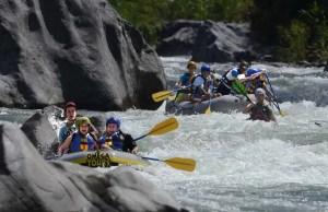 White water rafting in Honduras