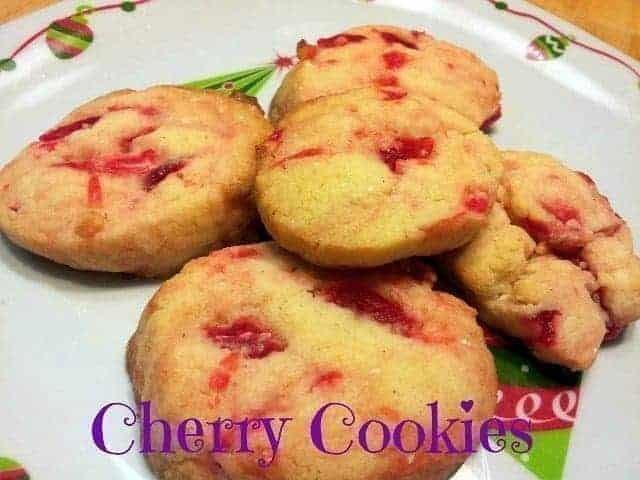 Plated Cherry Cookies