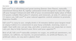 Description of Full Core product to help #StopSnacking