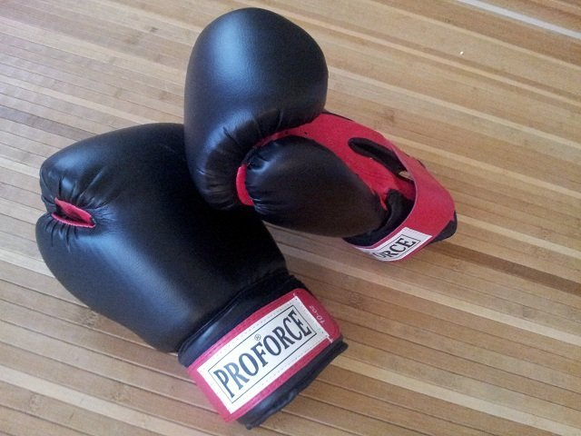 Boxing gloves I use for cardio kickboxing