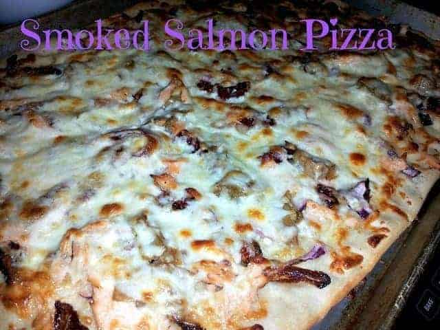 Smoked salmon pizza appetizer recipe