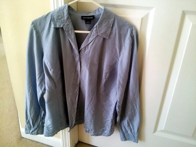 ruined blue silk blouse because it got washed