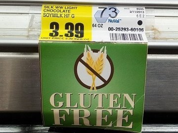 Tag showing gluten free label