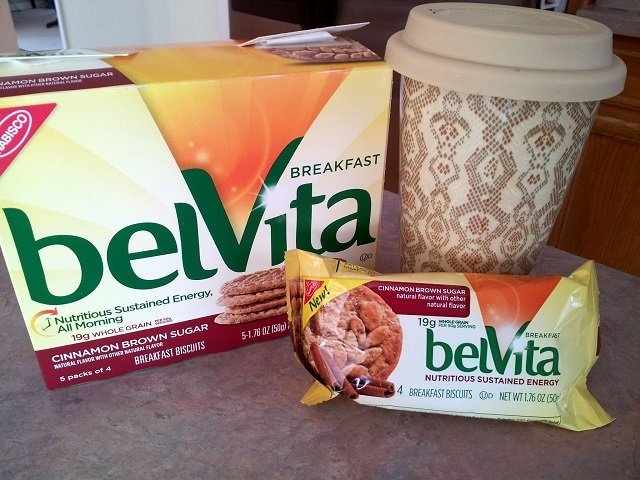 belvita and Gevalia coffee for breakfast