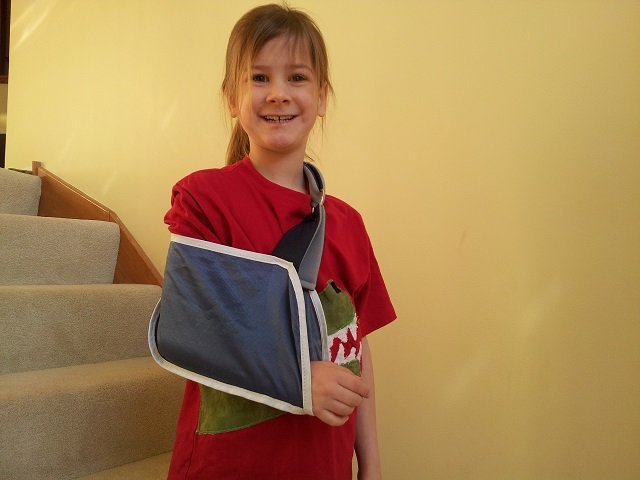 Little Miss with sling