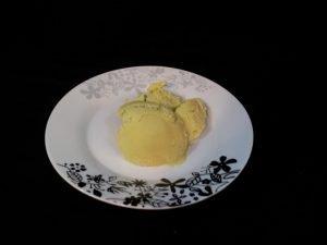 avocado ice cream recipe plated