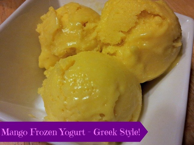 Mango Frozen Greek Yogurt recipe