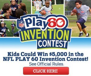 Banner about the NFL Play60 Invention Contest