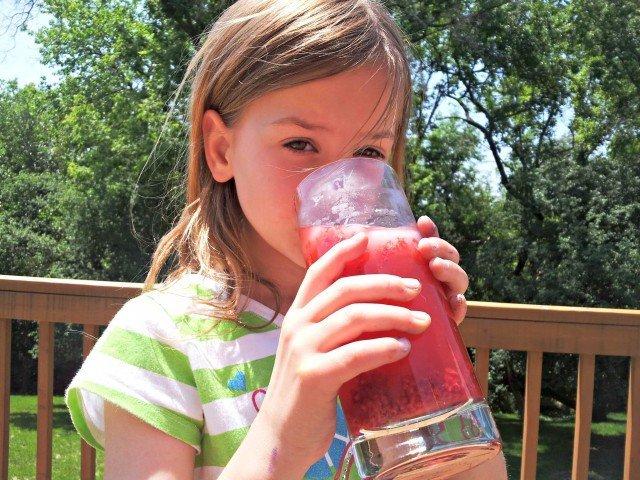 Little Miss loves her lemonade