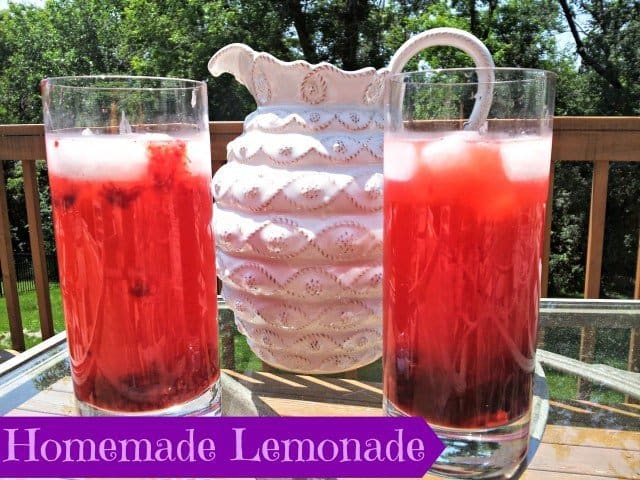 Homemade berry lemonade recipe