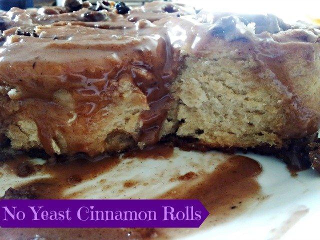 No Yeast Cinnamon Rolls – Tasty Tuesday!