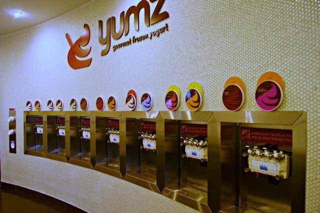 Display of yogurt flavors