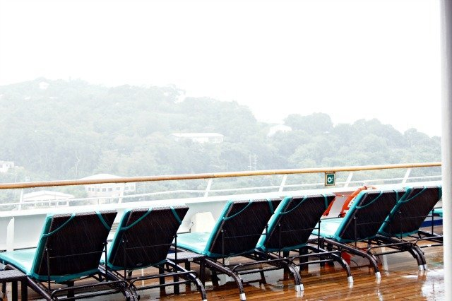 Pouring rain in St. Thomas