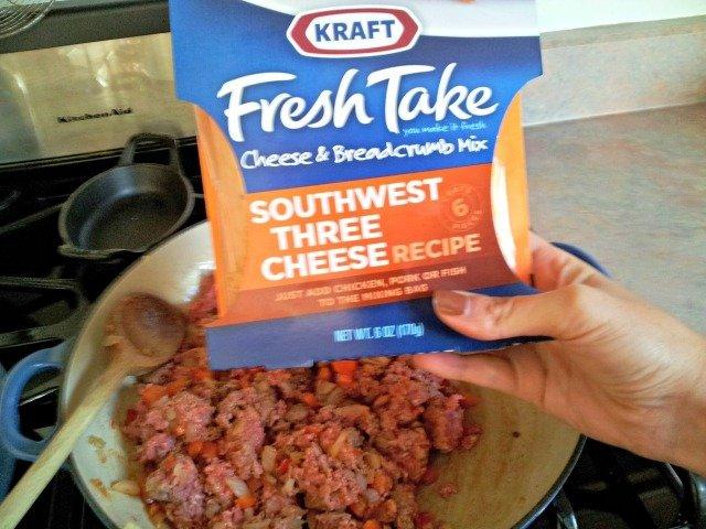 Kraft Fresh Take spices get added to ground beef