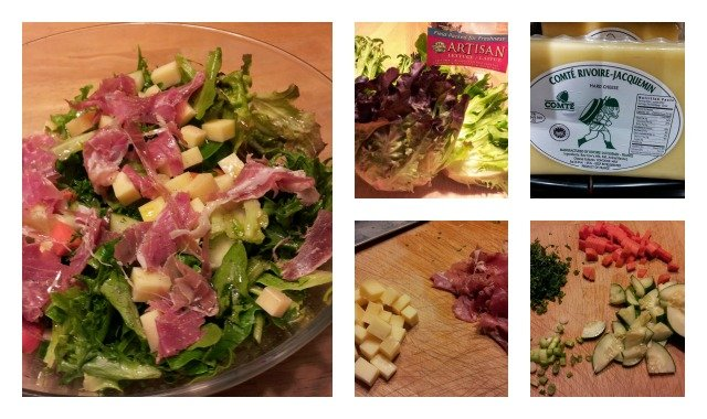 Take what you have in your fridge and make a yummy chef salad for a healthy meal
