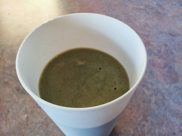 Add spinach or kale to a smoothie