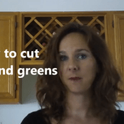 How to cut greens and herbs