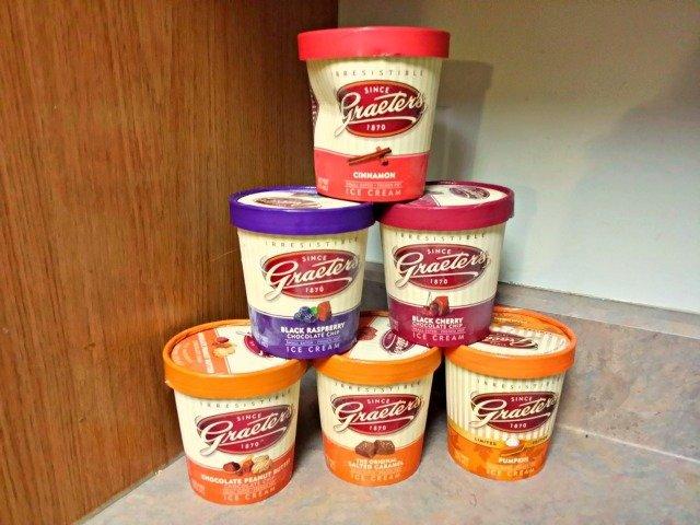 Six pints of Graeter's ice cream