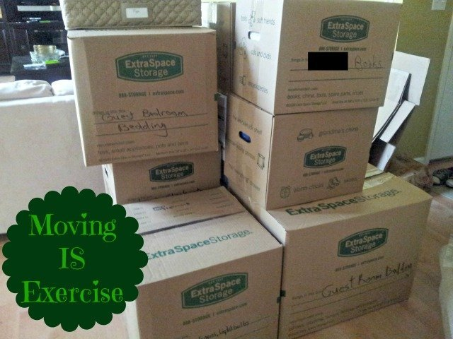 Giant pile of moving boxes