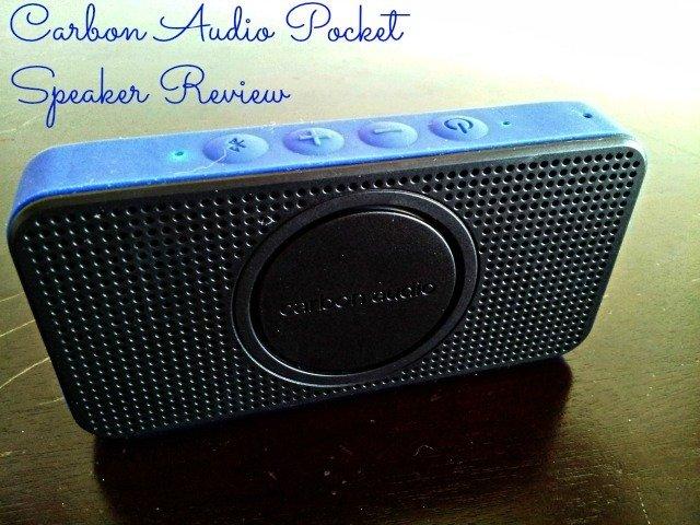 Carbon Audio Pocket Speaker on a table