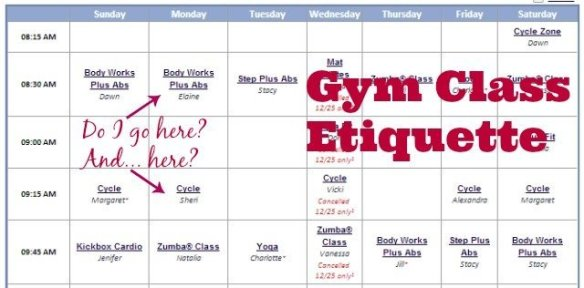Gym class schedule - it is ok to take overlapping classes?