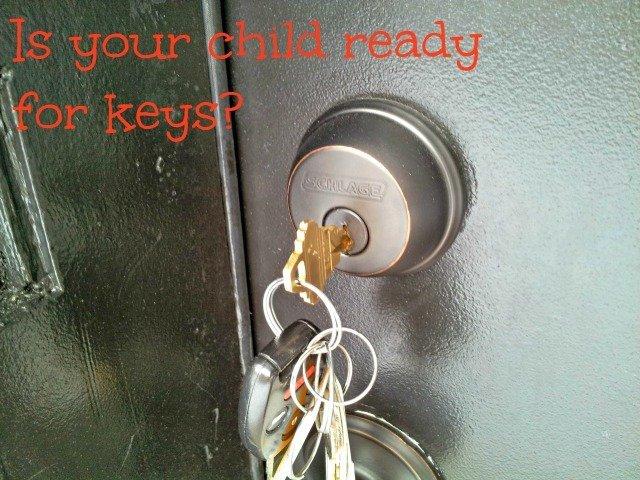 House keys in a lock