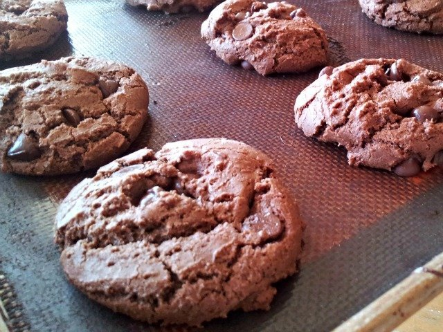 Just baked Mexican triple chocolate cookies