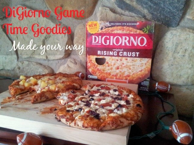 Football party idea: Customize your DiGiorno pizzas #shop