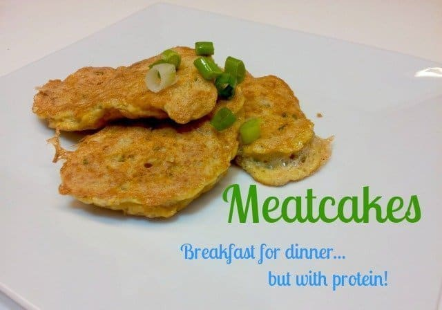 Meatcakes recipe gives you a great alternative to breakfast for dinner. #Glutenfree and healthy, with lots of protein!