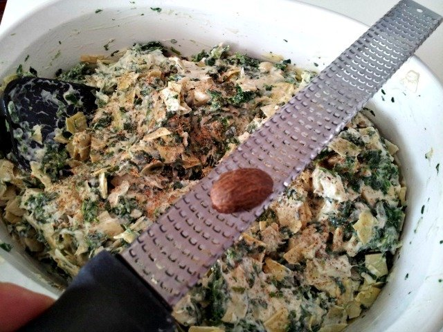 Nutmeg is the secret ingredient in hot the spinach artichoke dip recipe