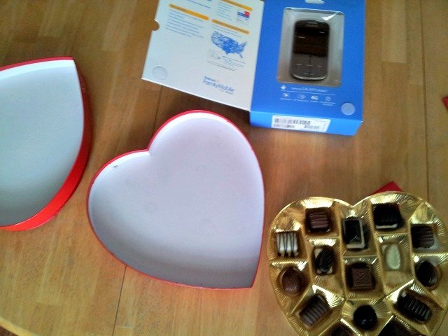 Remove chocolates from the candy heart box and insert your gift instead #shop