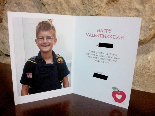 AWesome personalized cards for teachers
