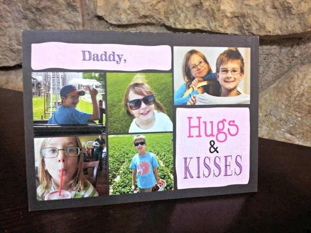 Daddy Valentine's Card from children