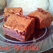 Classic brownies are the ideal chewy fudgy delicious desserts that disappear fast!