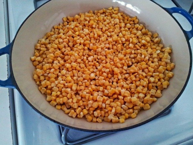 Corn before being cooked for Elote