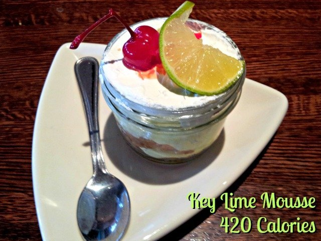 Houlihan's offers a key lime mousse at just 420 calories